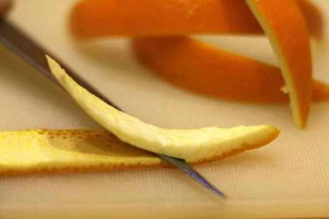Kandyzowana skórka z pomarańczy
