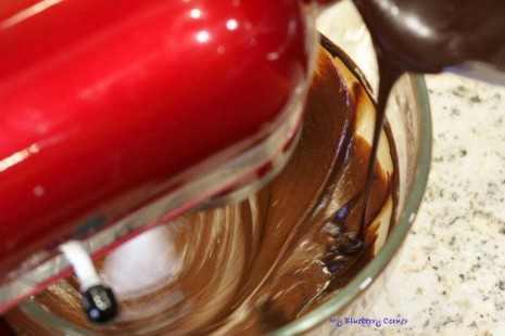 Brownie z kawałkami toffi
