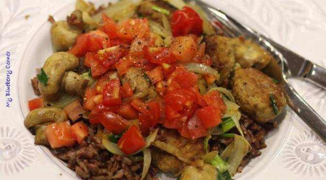 Kotleciki z czerwonym ryżem