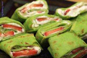 Zielone naleśniki ziołowo kokosowe