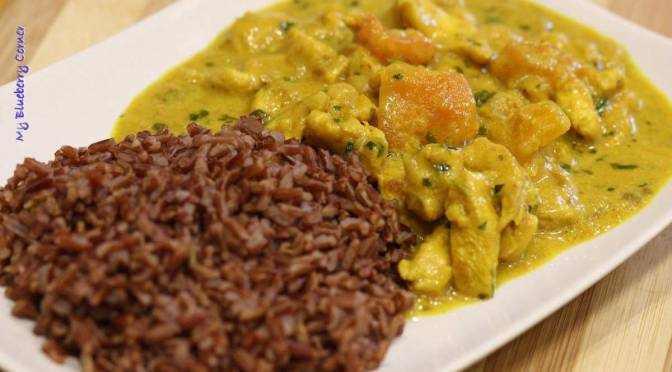 Kurczak curry z papają