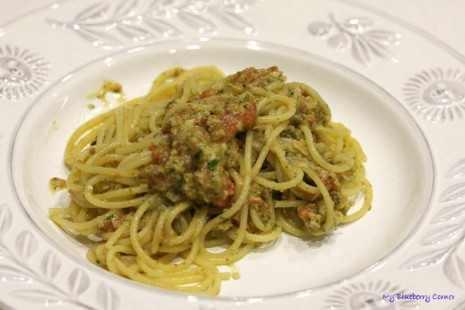 Migdałowe spaghetti