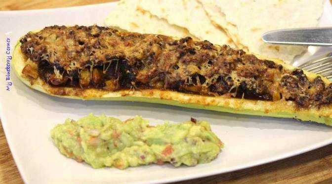 Zapiekany kabaczek z chili con carne