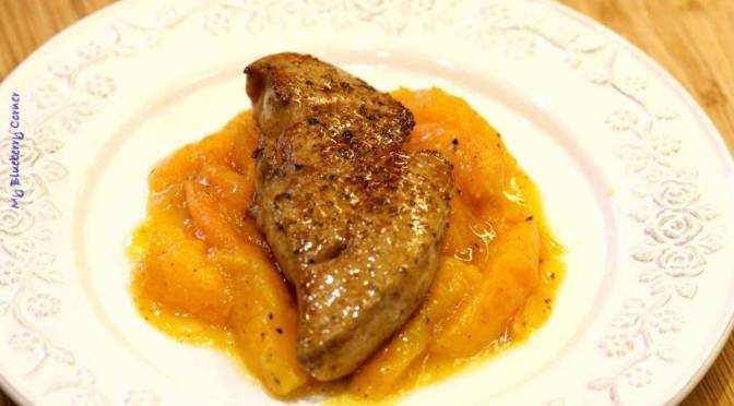 Foie gras z karmelizowanymi morelami