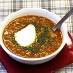 Zupa z <span>pomidorami i pęczakiem</span>