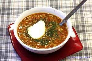 Zupa z pomidorami i pęczakiem