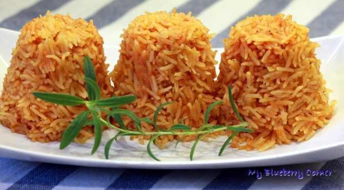 Pomidorowy ryż dodatek do meksykańskich dań