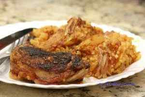 Pieczony kurczak z ryżem