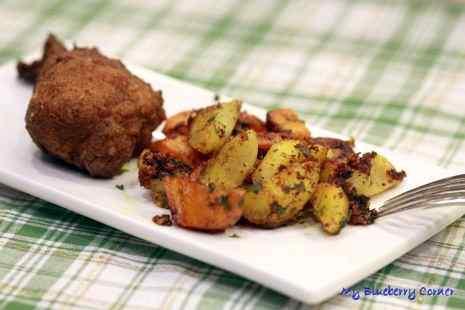 Warzywa korzeniowe z patelni
