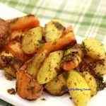<span>Warzywa korzeniowe</span> z patelni