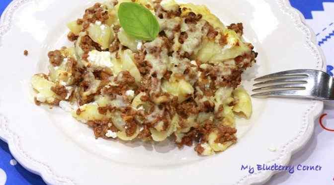 Makaronowa zapiekanka z wołowiną