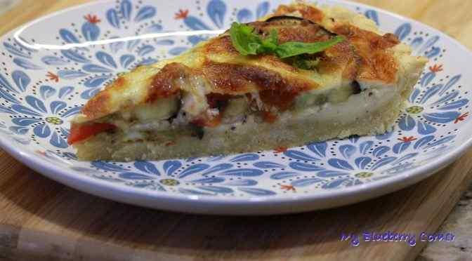 Włoska tarta z bakłażanem