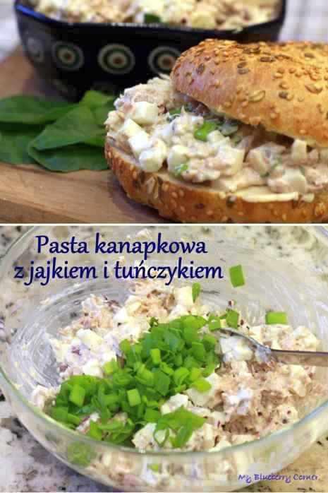 Pasta kanapkowa z jajkiem i tuńczykiem