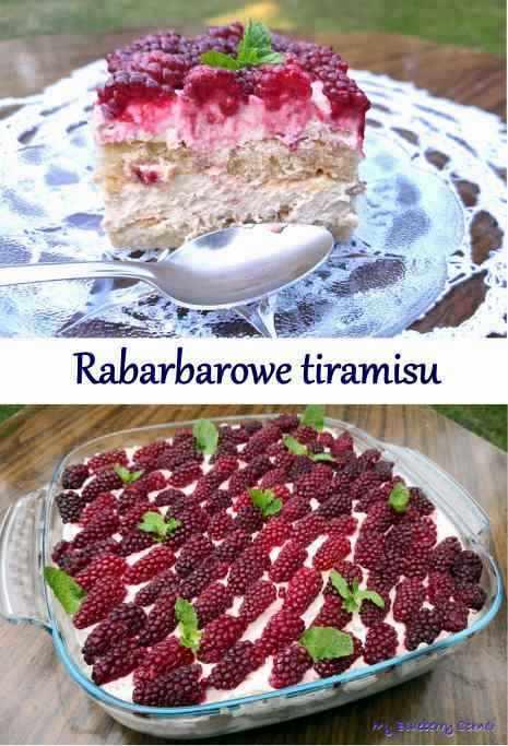Rabarbarowe tiramisu