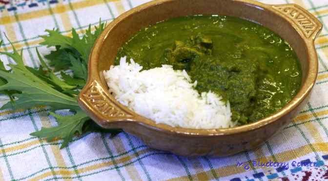 Palak curry z kurczakiem